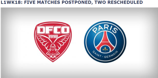 法甲官方确定:本周7场法甲延期 巴黎开赛未定