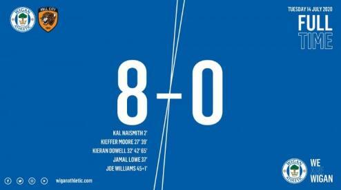 2020/07/15 彩票宝足球比分直播 英冠惊现世纪惨案,维冈竞技主场8-0狂胜赫尔城